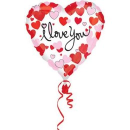 Folienluftballon i love you Herzform rot 43 cm Inhalt 1...